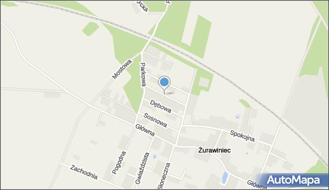 Żurawiniec gmina Miękinia, Wiosenna, mapa Żurawiniec gmina Miękinia