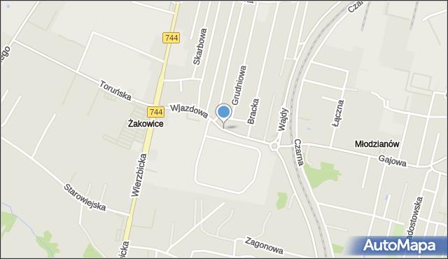 Radom, Wjazdowa, mapa Radomia