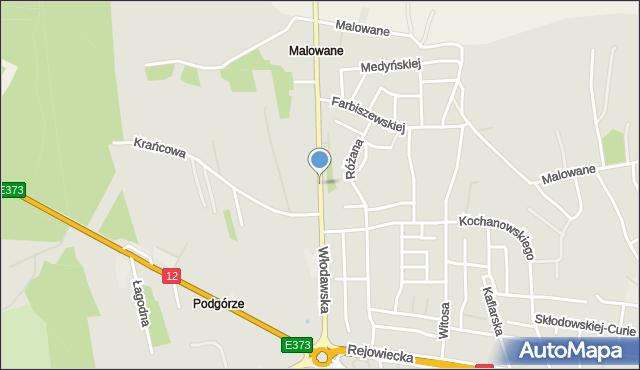 Chełm, Włodawska, mapa Chełma
