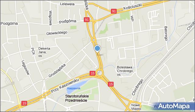 Toruń, Władysława Warneńczyka, mapa Torunia