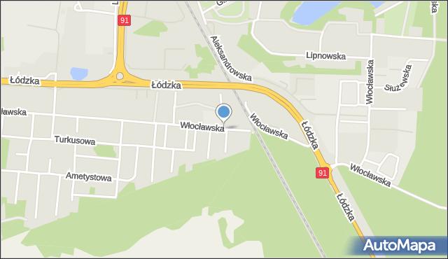 Toruń, Włocławska, mapa Torunia
