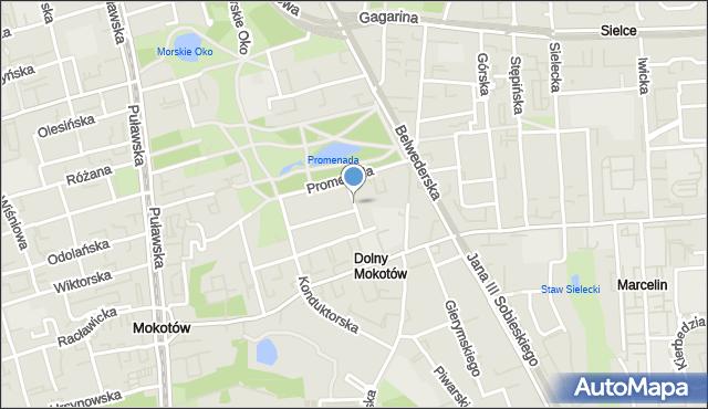 Warszawa, Włoska, mapa Warszawy
