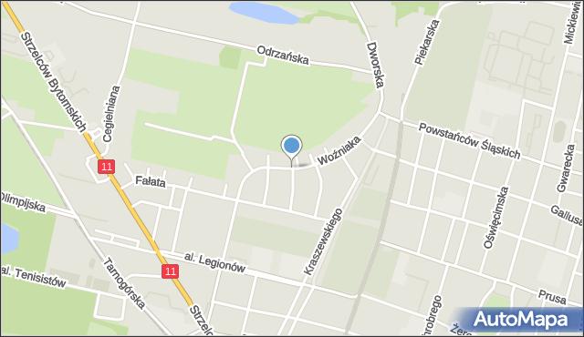 Bytom, Woźniaka Piotra, mapa Bytomia