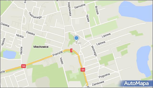 Bytom, Wodna, mapa Bytomia
