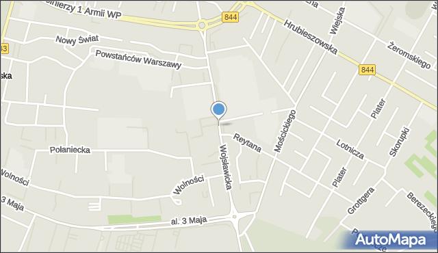 Chełm, Wojsławicka, mapa Chełma