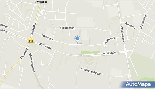 Chełm, Wolności, mapa Chełma