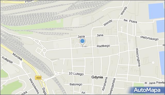 Gdynia, Wójta Radtkego, mapa Gdyni