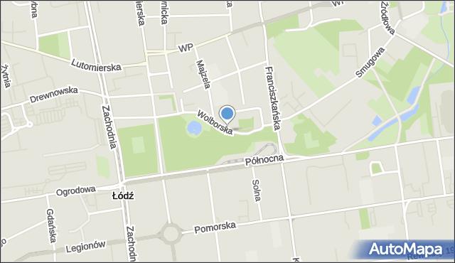 Łódź, Wolborska, mapa Łodzi