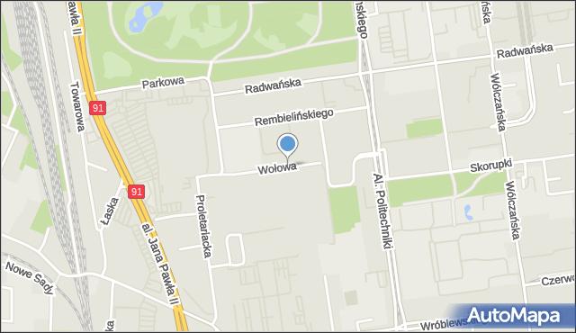 Łódź, Wołowa, mapa Łodzi