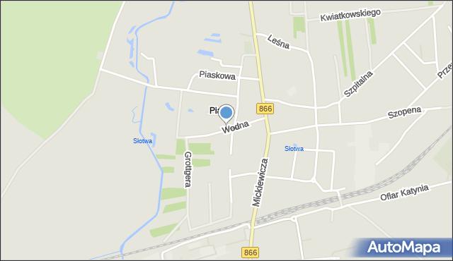 Lubaczów, Wodna, mapa Lubaczów