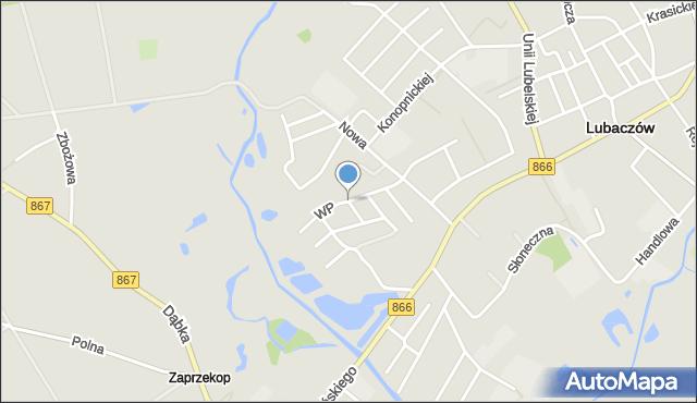 Lubaczów, Wojska Polskiego, mapa Lubaczów
