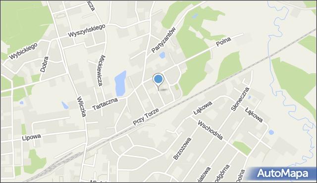 Luzino, Wojska Polskiego, mapa Luzino