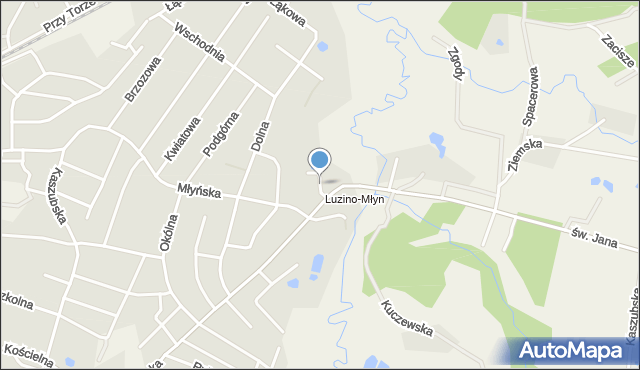 Luzino, Wolna, mapa Luzino