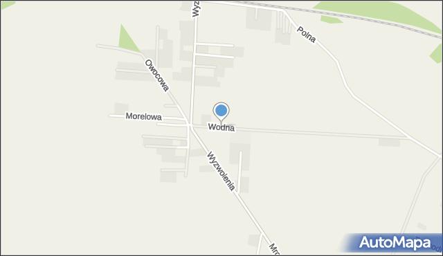 Mrozów, Wodna, mapa Mrozów
