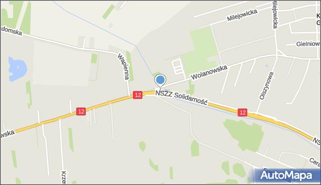Radom, Wolanowska, mapa Radomia