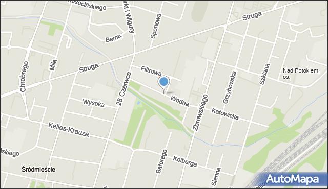 Radom, Wodna, mapa Radomia