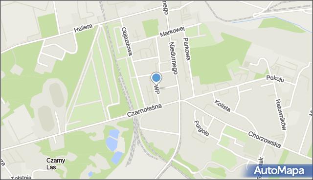 Ruda Śląska, Wojska Polskiego, mapa Rudy Śląskiej