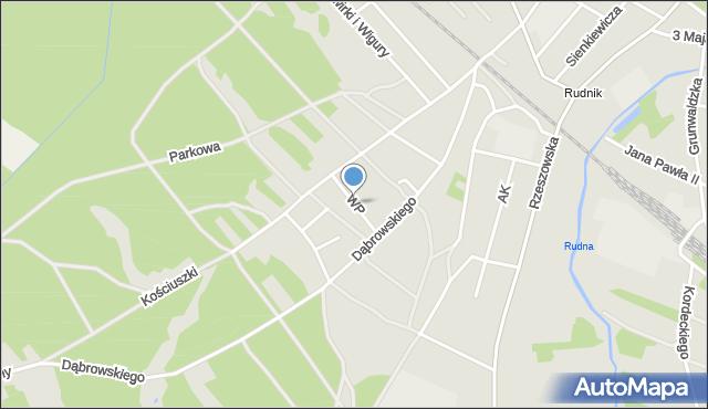 Rudnik nad Sanem, Wojska Polskiego, mapa Rudnik nad Sanem