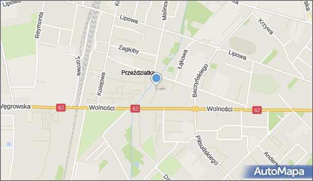 Sokołów Podlaski, Wokulskiego, mapa Sokołów Podlaski
