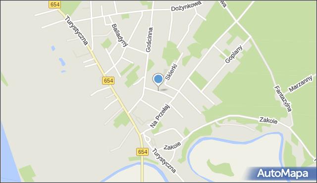 Toruń, Wodna, mapa Torunia