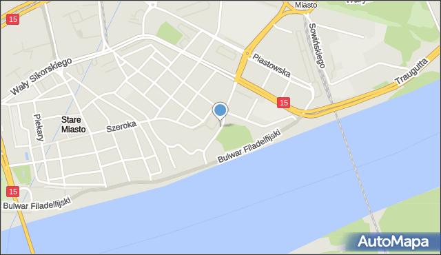 Toruń, Wola Zamkowa, mapa Torunia