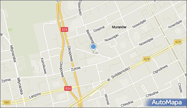 Warszawa, Wolność, mapa Warszawy