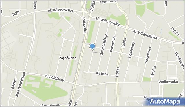 Warszawa, Wołodyjowskiego Michała, mapa Warszawy