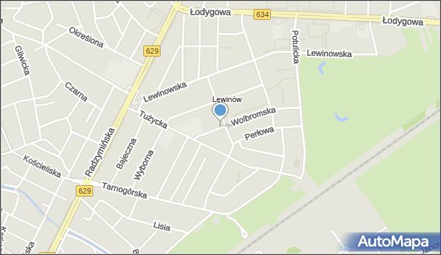 Warszawa, Wolbromska, mapa Warszawy