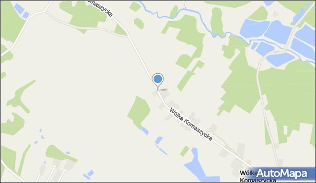 Wólka Komaszycka, Wólka Komaszycka, mapa Wólka Komaszycka