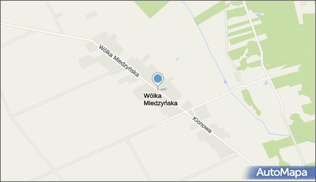 Wólka Miedzyńska, Wólka Miedzyńska, mapa Wólka Miedzyńska
