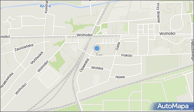 Zabrze, Wołodyjowskiego Michała, mapa Zabrza