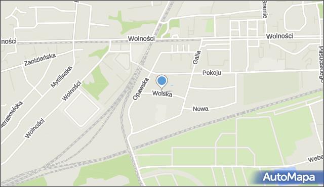 Zabrze, Wolska, mapa Zabrza