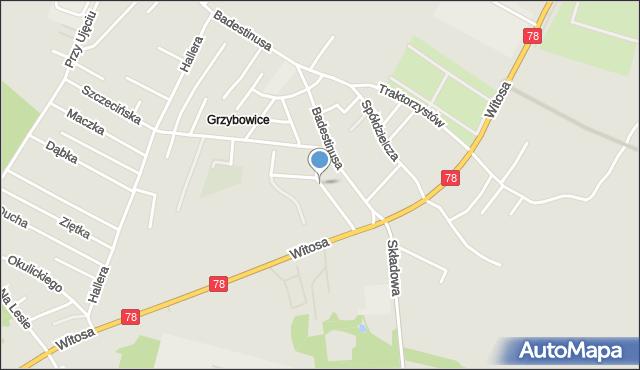 Zabrze, Wosia Michała, ks., mapa Zabrza