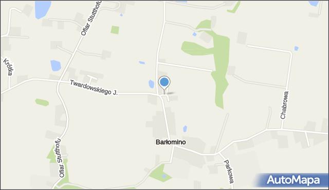 Barłomino, Wrzosowa, mapa Barłomino
