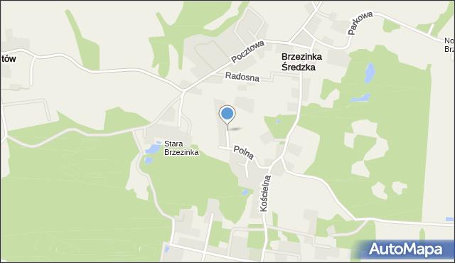 Brzezinka Średzka, Wrzosowa, mapa Brzezinka Średzka
