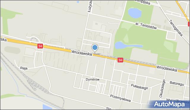 Bytom, Wrocławska, mapa Bytomia