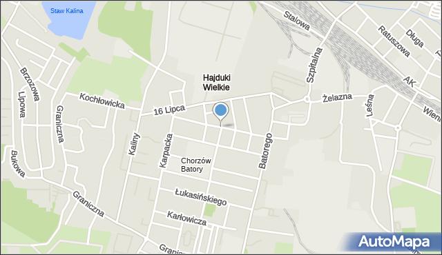 Chorzów, Wrocławska, mapa Chorzów