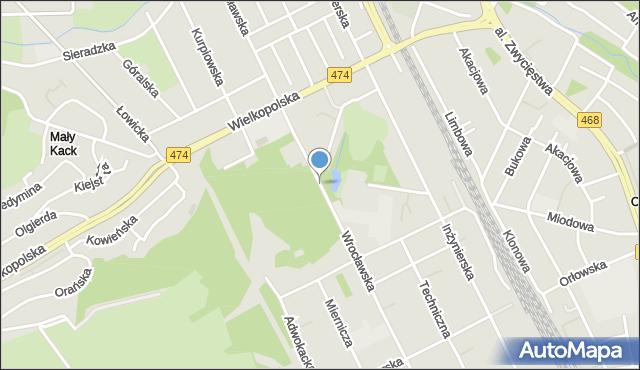 Gdynia, Wrocławska, mapa Gdyni
