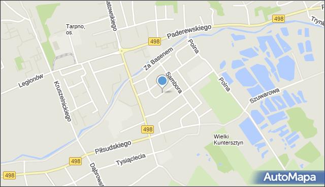 Grudziądz, Wróblewskiego Walerego, gen., mapa Grudziądza