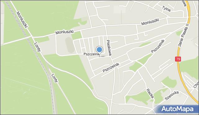 Jaworzno, Wrzosowa, mapa Jaworzno