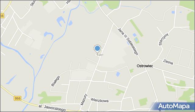 Lubaczów, Wrzosowa, mapa Lubaczów