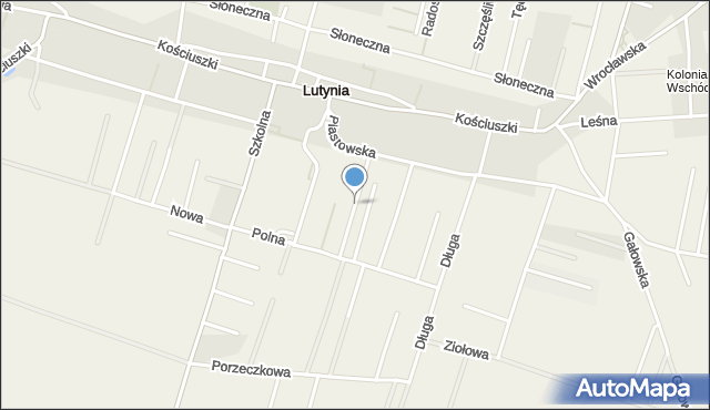 Lutynia gmina Miękinia, Wrzosowa, mapa Lutynia gmina Miękinia