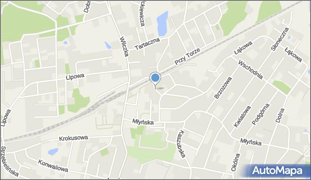 Luzino, Wryczy, ks., mapa Luzino