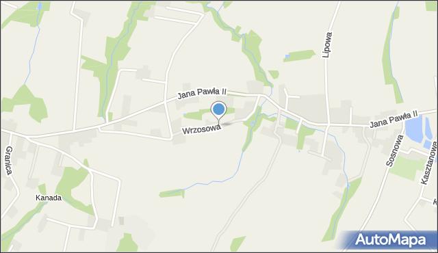 Nidek, Wrzosowa, mapa Nidek