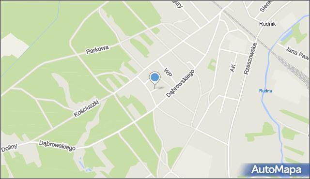 Rudnik nad Sanem, Wrzosowa, mapa Rudnik nad Sanem