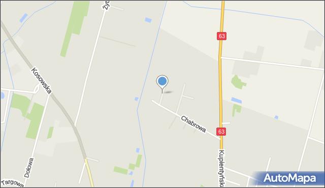 Sokołów Podlaski, Wrzosowa, mapa Sokołów Podlaski