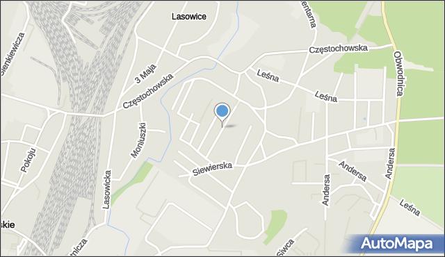 Tarnowskie Góry, Wrzosowa, mapa Tarnowskie Góry