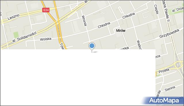 Warszawa, Wronia, mapa Warszawy