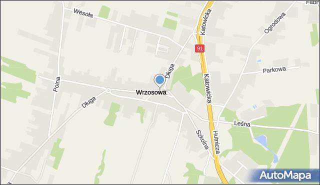 Wrzosowa, Wrzosowa, mapa Wrzosowa