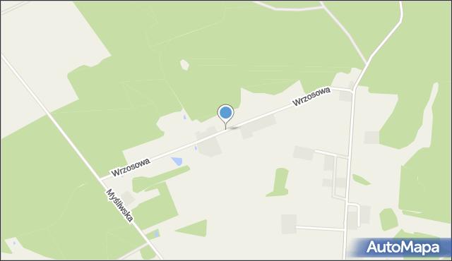 Wyszecino, Wrzosowa, mapa Wyszecino